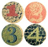Number cork coasters and trivets by Gail Garcia