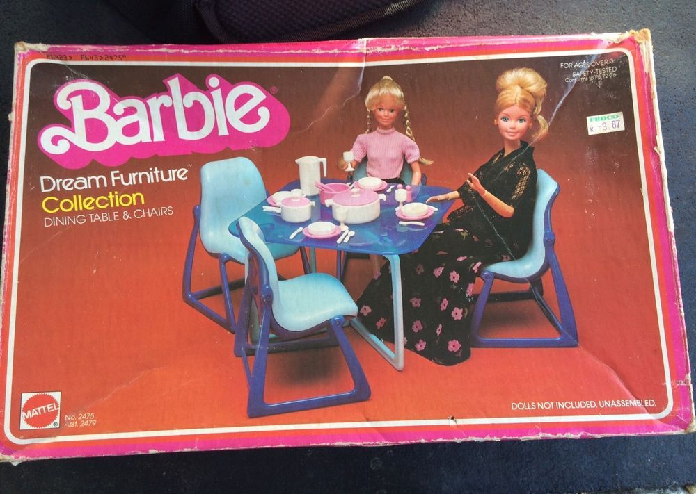 Vintage 1977 Barbie Doll Dream House Dining Room Table