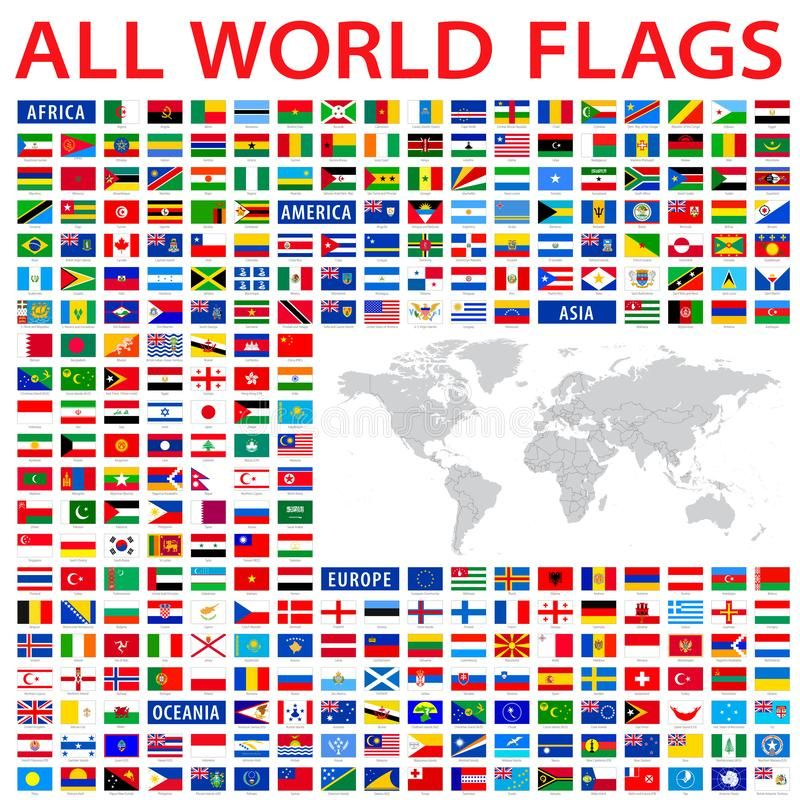 All Country Flags Of The World With A High Detailed Map Of The World Sponsored World Flags Country M All World Flags Flags Of The World Flag Vector