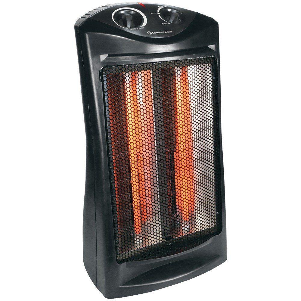 Comfort Zone 1 500 Watt Radiant Quartz Tower Heater 1 500w