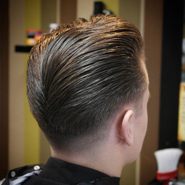 Good Look Of The Day Going Out To Barber Cater Super Clean And On Point Fade Ducktail Barber Long Hair Styles Men Mens Hairstyles Long Hair Styles