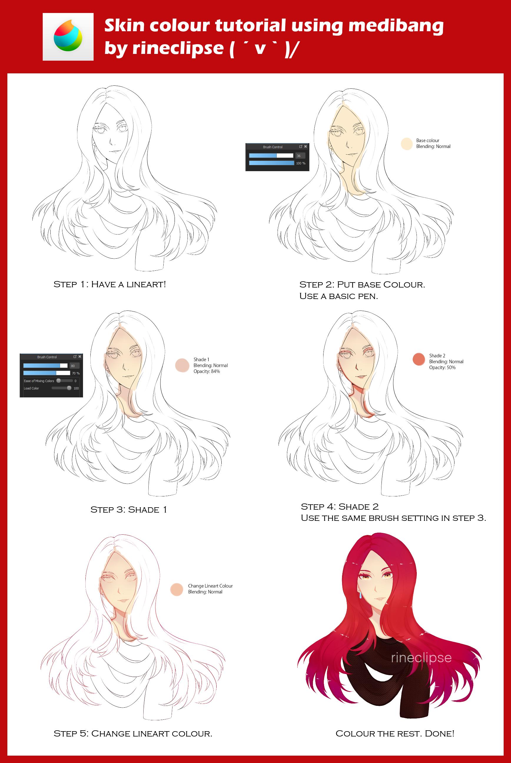Skin Colour Tutorial Using Medibang Digital Art Tutorial Coloring Tutorial Tutorial