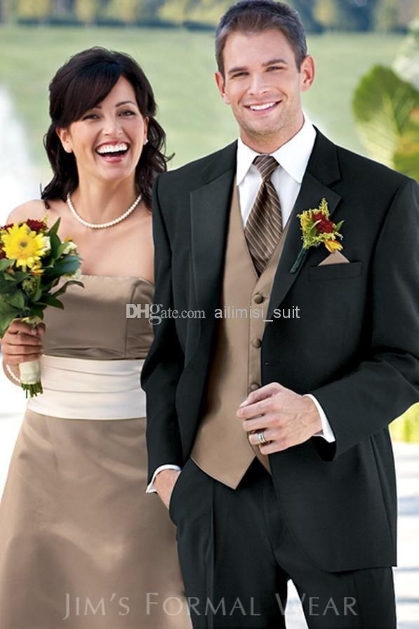 Wholesale - Custom-made Groom Tuxedos groomsman Suit wedding mens ...