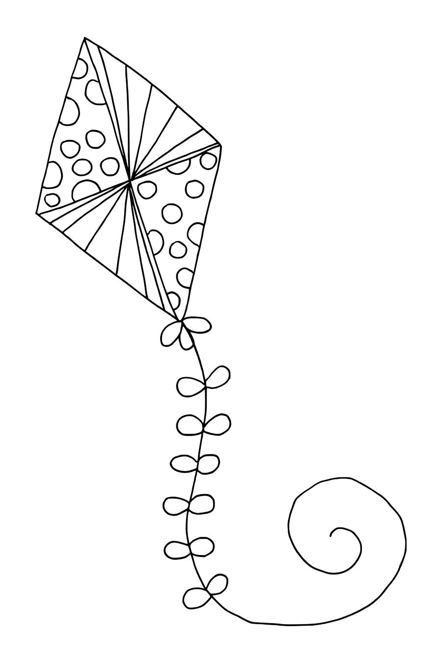Kite Coloring Pages Free Large Images Zoo Coloring Pages Coloring Pages Fall Coloring Pages
