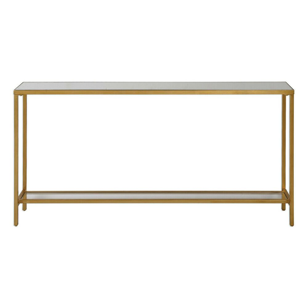 Uttermost 24685 Hayley 60 X 10 Inch Antiqued Gold Console Table Uttermost With Images Metal Console Table Console Table Metal Console