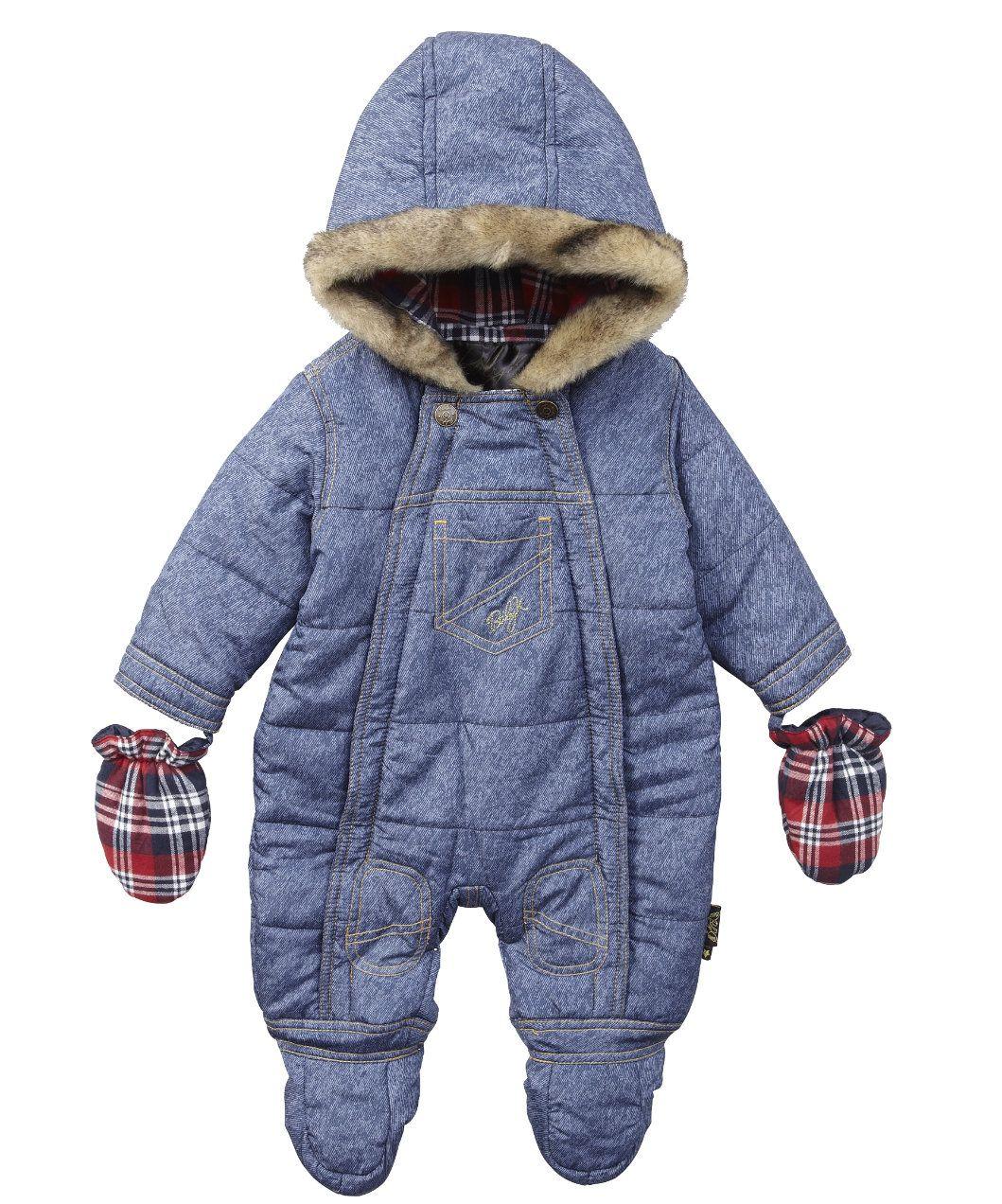 eb7d4498f77c Baby K Denim Snowsuit - pramsuits   snowsuits - Mothercare