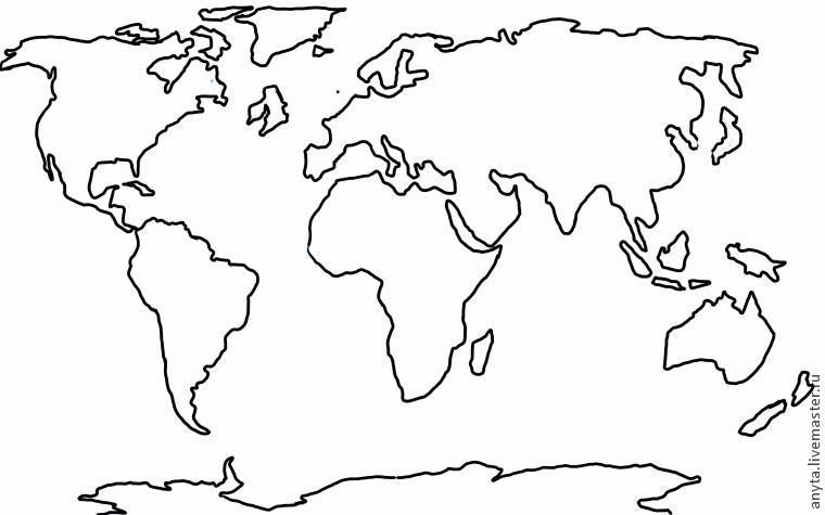 World map template For the Home Pinterest Template, Outlines - copy world map poster the range