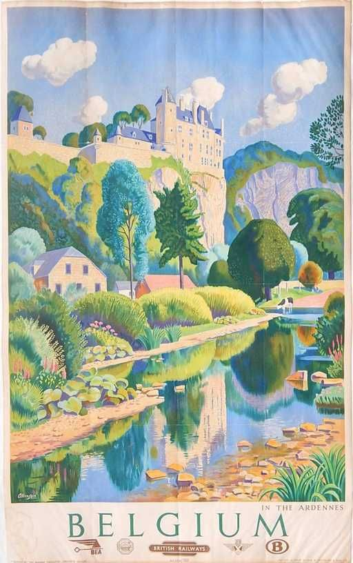Allinson lithographic travel poster