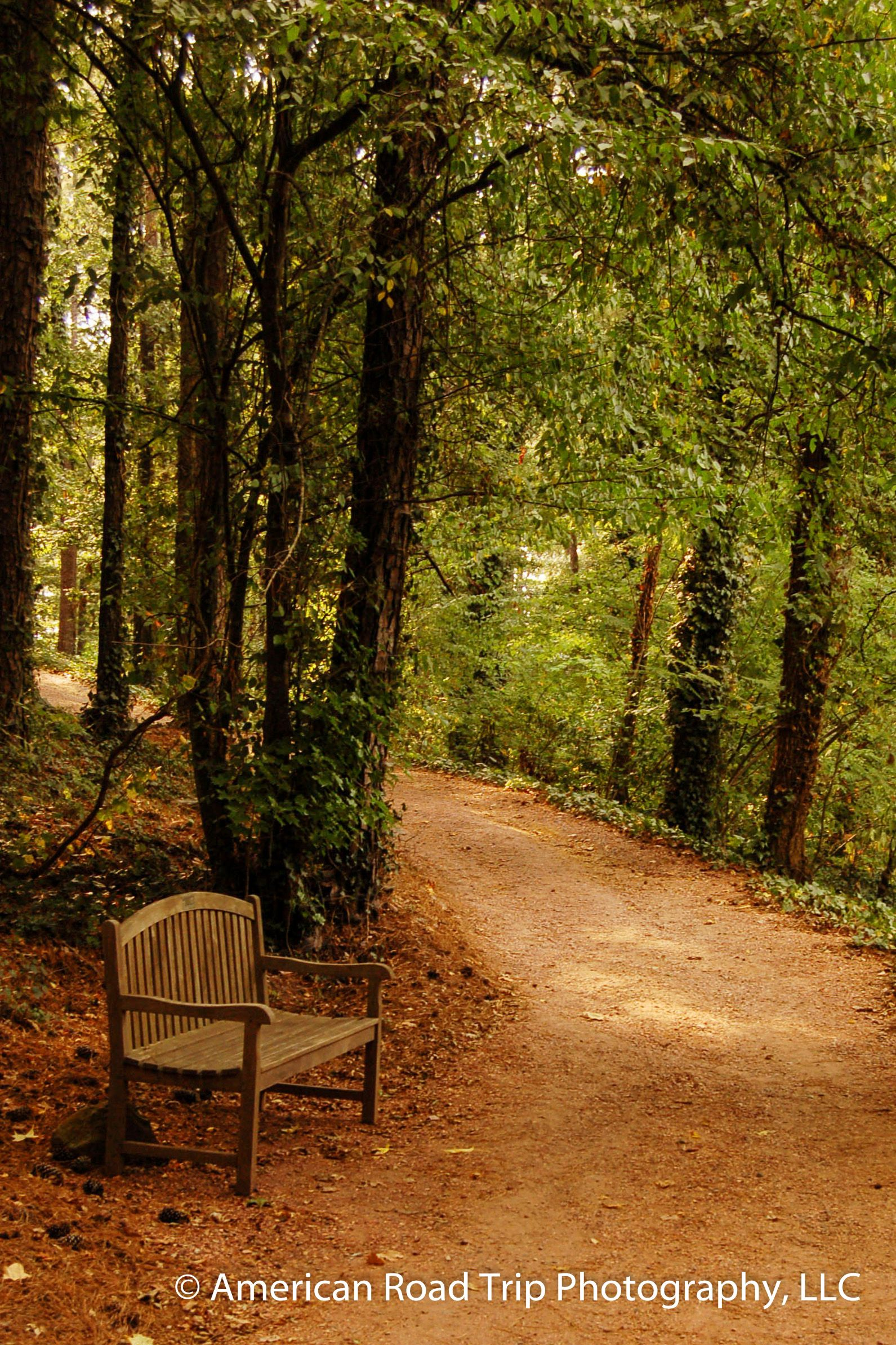 One of the peaceful trails available to walk or just sit and enjoy ...