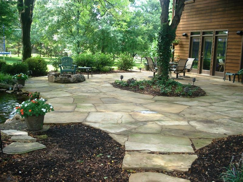 Flag Stone Patio By West Winds Earthscaping Patio Stones Flagstone Patio Patio Garden