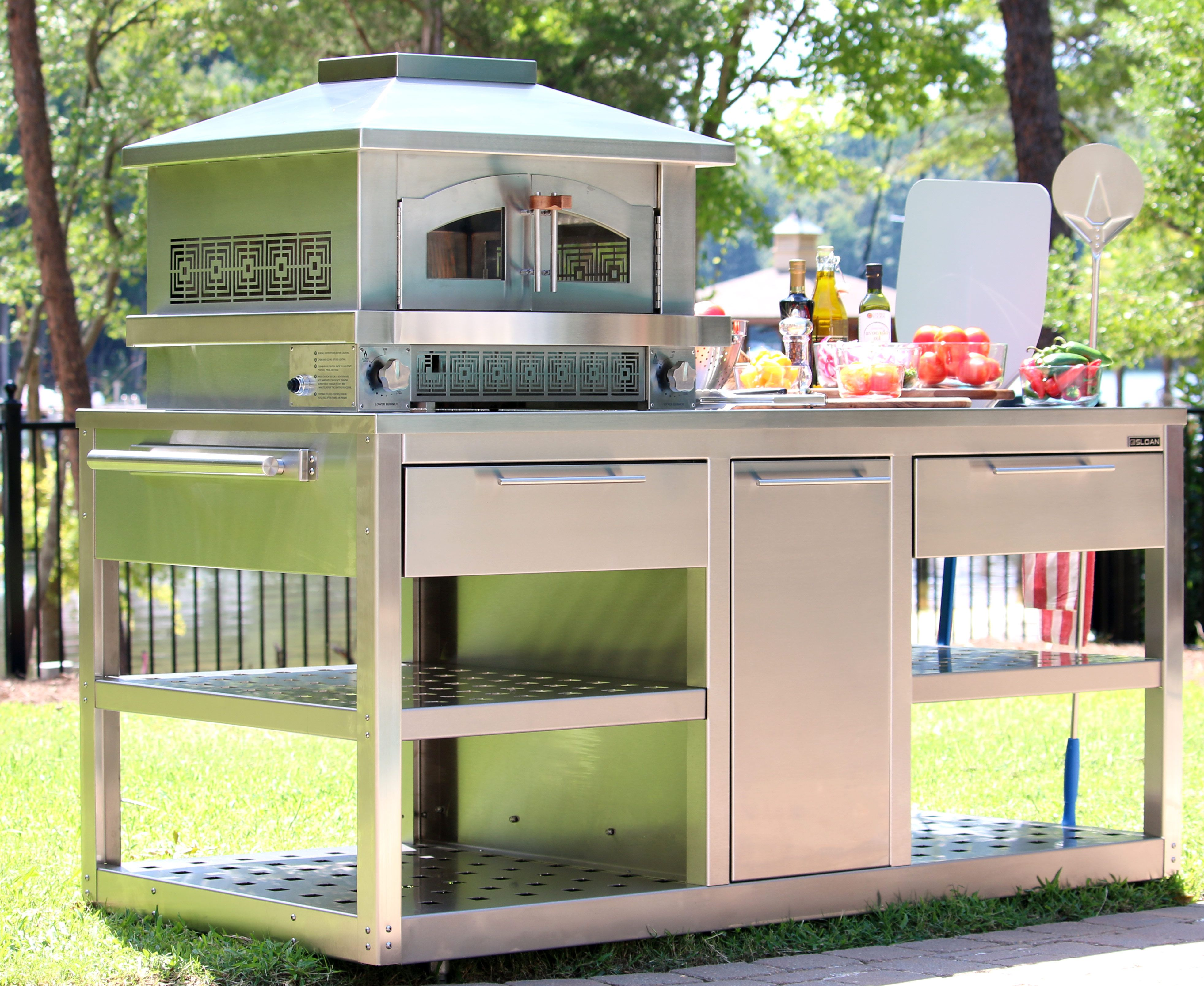 sloan outdoor kitchens kitchen cabinets outdoor pizza oven fire sloan kitchens