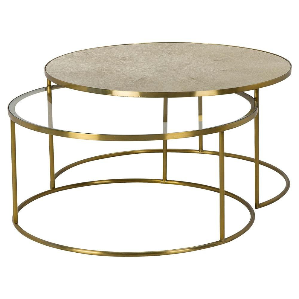 Maison 55 Ringo Modern Classic Round Gold Metal Bunching Round Coffee Table In 2021 Coffee Table Nesting Coffee Tables Modern Coffee Tables [ 1000 x 1000 Pixel ]
