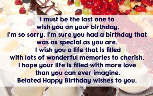 Belated Birthday Wishes For Boyfriend