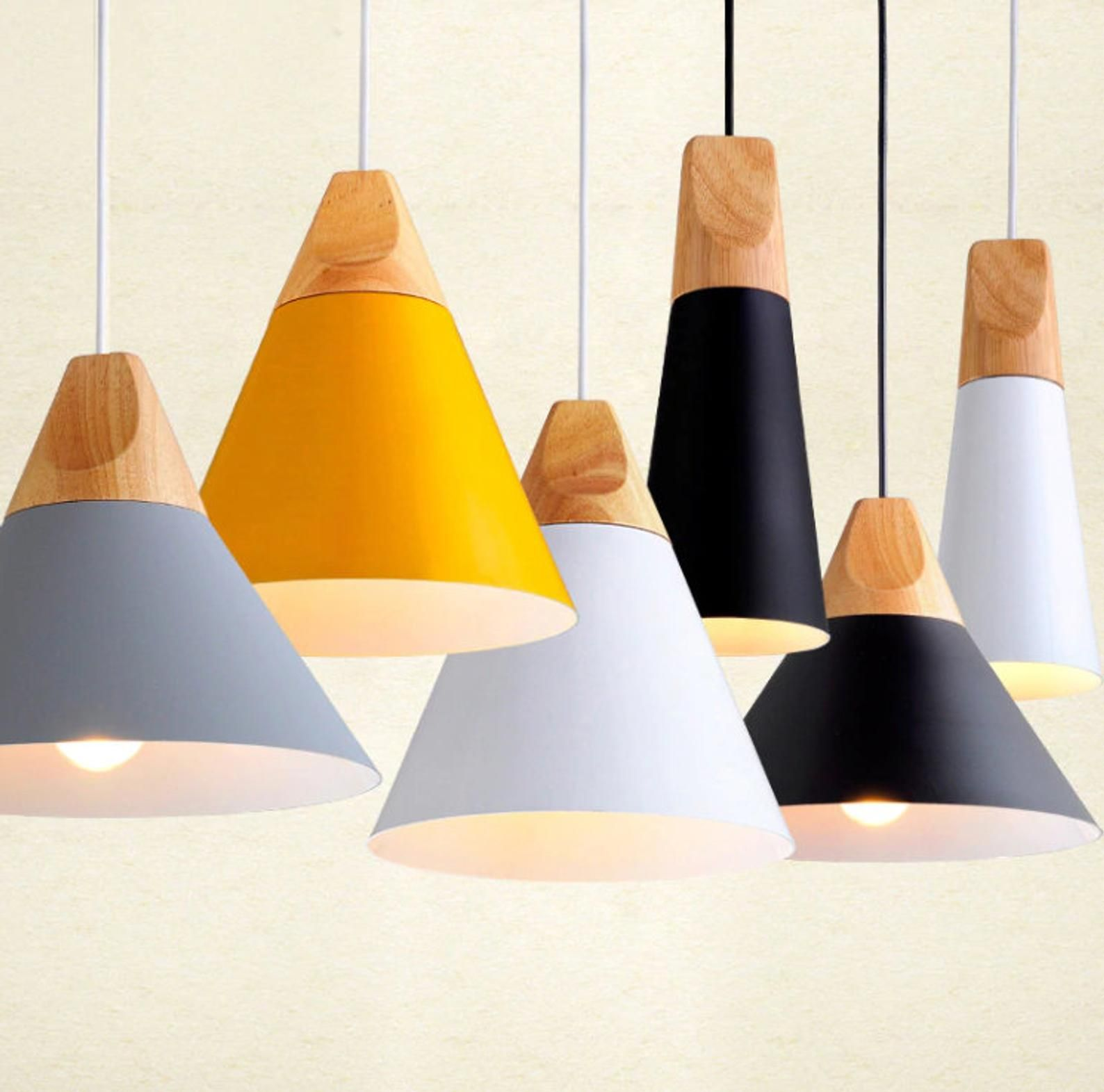 Colorful Scandinavian Style Pendant Lights Kitchen Hanging Lamp