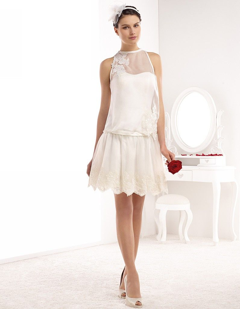 robe de mari e courte ann es 20 pronuptia printemps t 2015 a woman in a dress pinterest. Black Bedroom Furniture Sets. Home Design Ideas