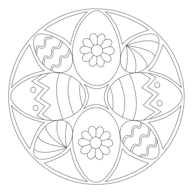 osterei-mandala 3 | ausmalbilder | malvorlagen ostern