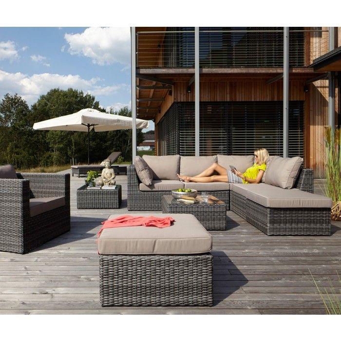Das Gartenlounge-Set Maco ist eine grosszügige Lounge, die sich - lounge gartenmobel gunstig