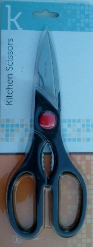 Durable Kitchen Scissors With Bottle Opener by Kitttamor. $5.99. Stainless Steel. Durable Construction. Power Grip Handles. Bottle Opener. Stainless steel kitchen shears.