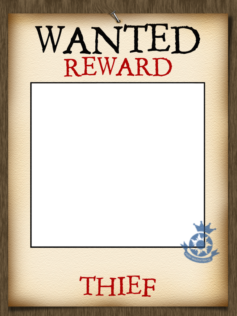Tangled Wanted Poster Photo Frame (add your name) - Centre section ...