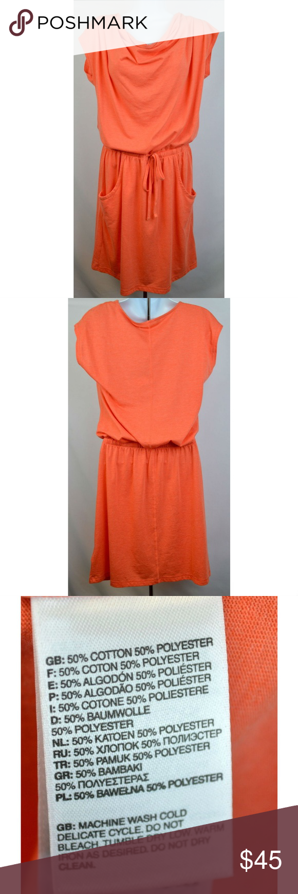 Womens Aurora Casual Dress Coral Orange Pink Red Casual Dress Clothes Design Clothes For Women [ 1740 x 580 Pixel ]