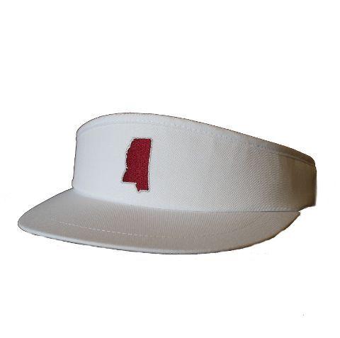 Mississippi Starkville Gameday Golf Visor White