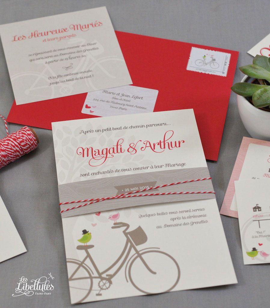 Nice Wedding Invitation Red Motif Composition - Invitations Design ...