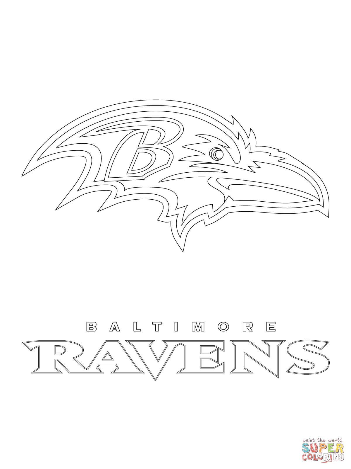 Baltimore Ravens Logo Super Coloring Baltimore Ravens Logo