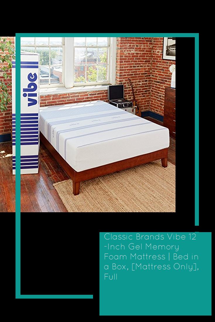 Classic Brands Vibe 12Inch Gel Memory Foam Mattress Bed