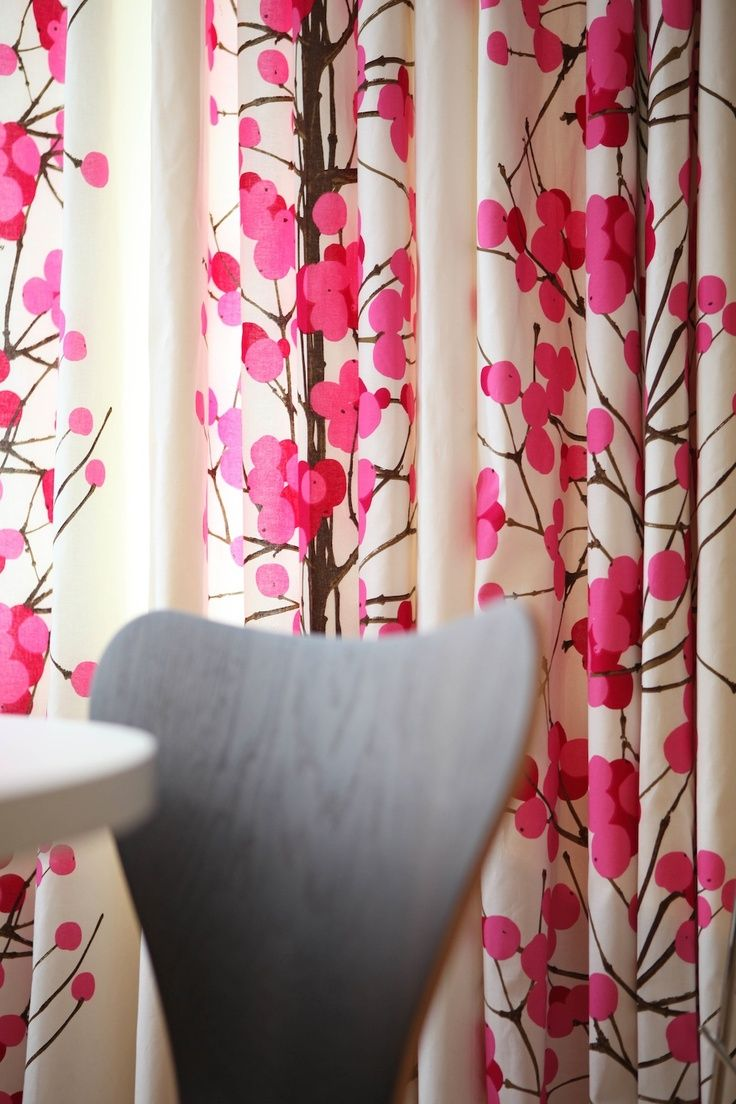 unikko shower pink in bath of and red marimekko zebra curtain curtains luxury bed