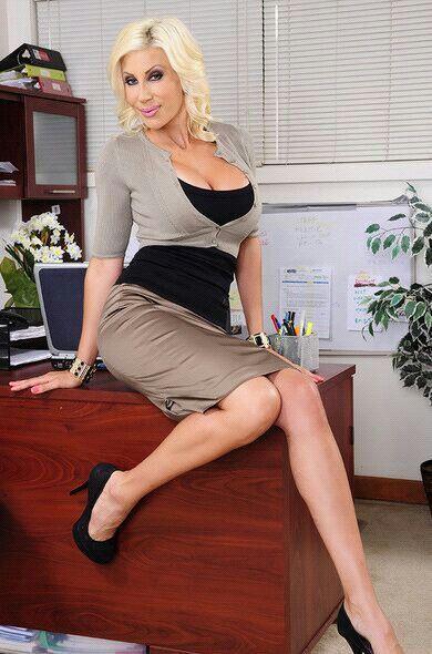 Busty office lesbians