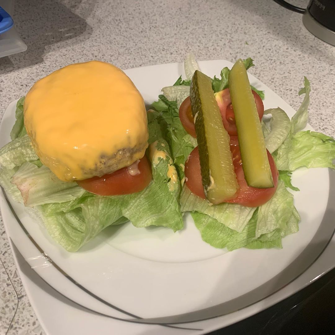 Burger without the burger Today was treat day