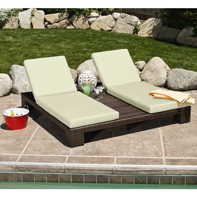 Lay Out In Style With This Double Chaise Chair This