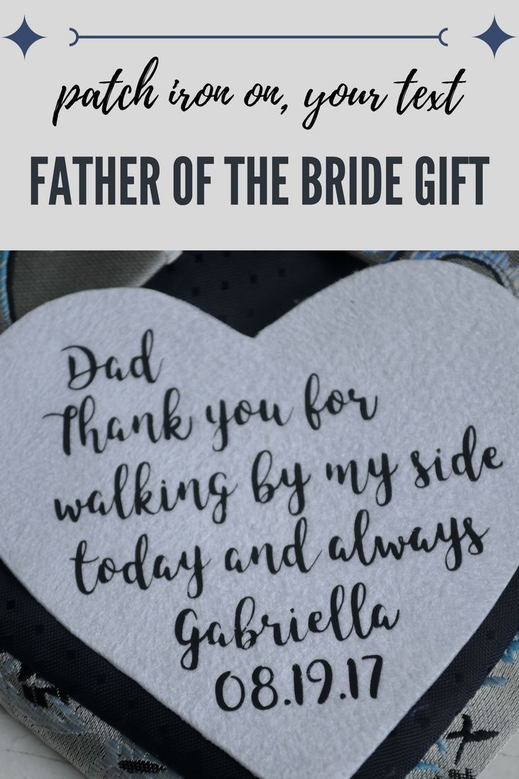 Wedding Gifts For Dad Tie Patch Birthday Gift From Daughter