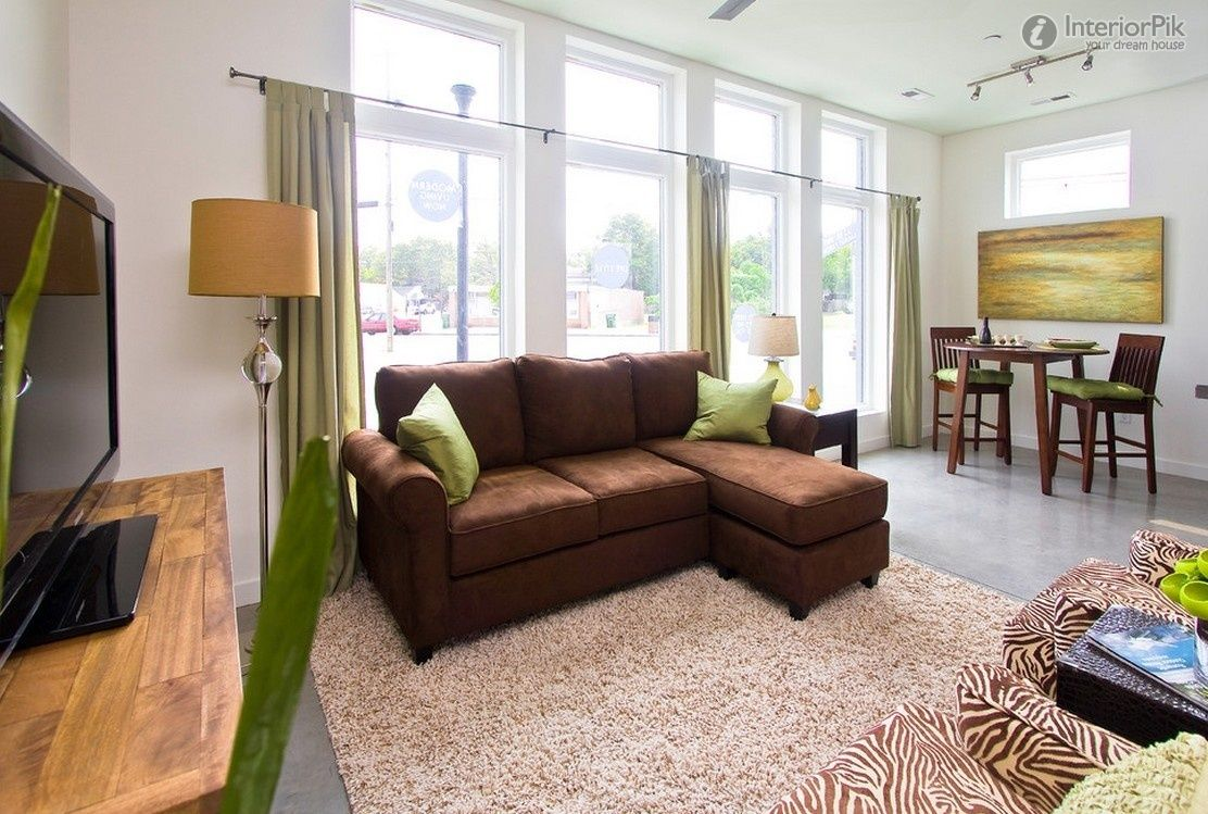 Living Room Sets For Apartments yellow sofa with tan walls |  wall color and brown sofas for