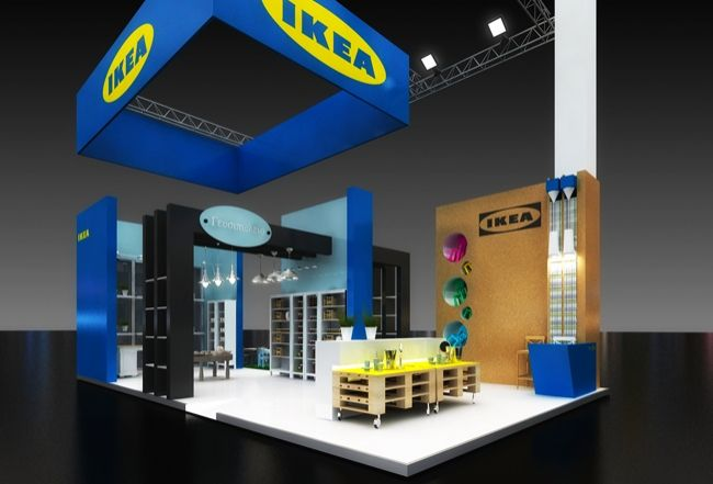 exhibition stand proposal for ikea company exhibition stands by kaput design pinterest. Black Bedroom Furniture Sets. Home Design Ideas