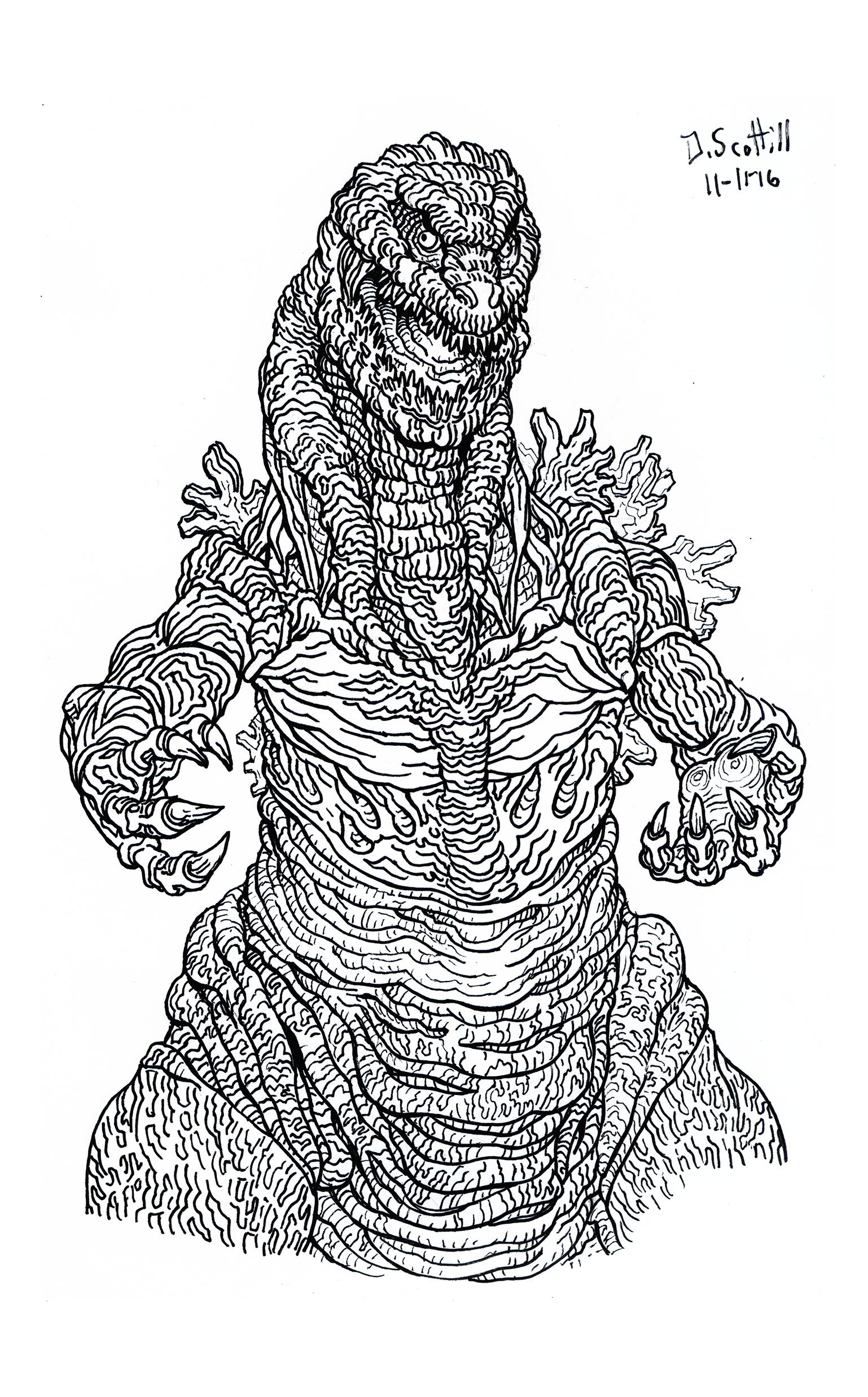 Excepcional Godzilla 2000 Para Colorear Ideas - Dibujos Para ...