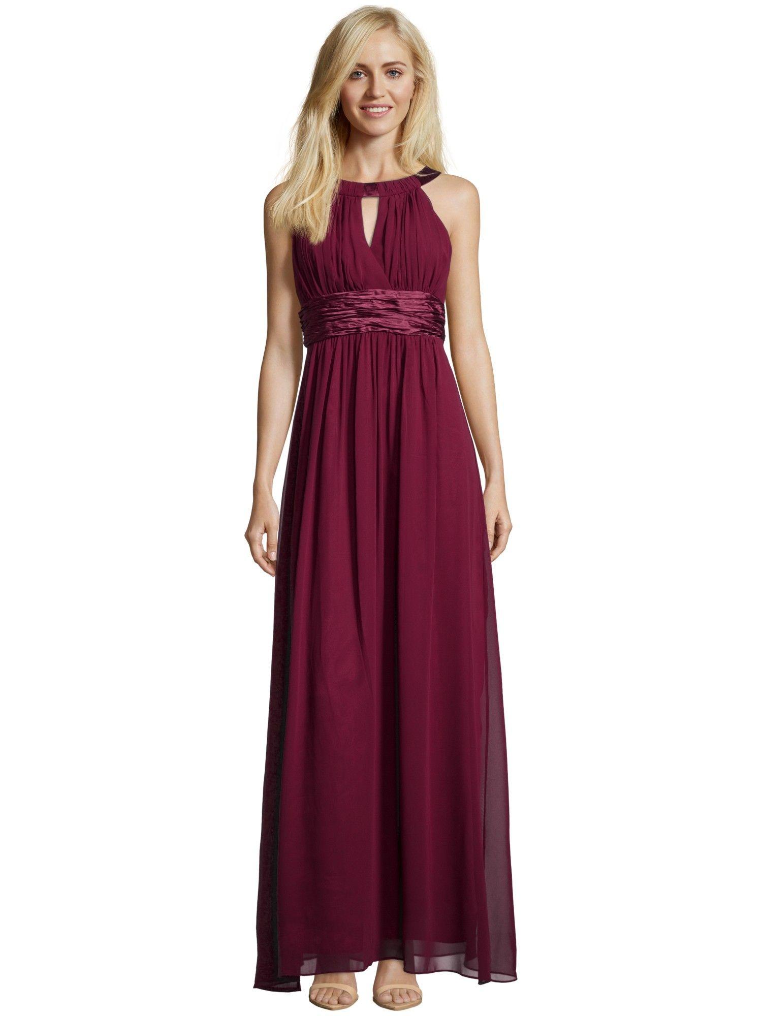 JAKES-COLLECTION Abendkleid mit Collierkragen in Rot online kaufen ...