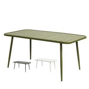 Table de jardin en aluminium (3 couleurs) Nordal | trees | Table ...