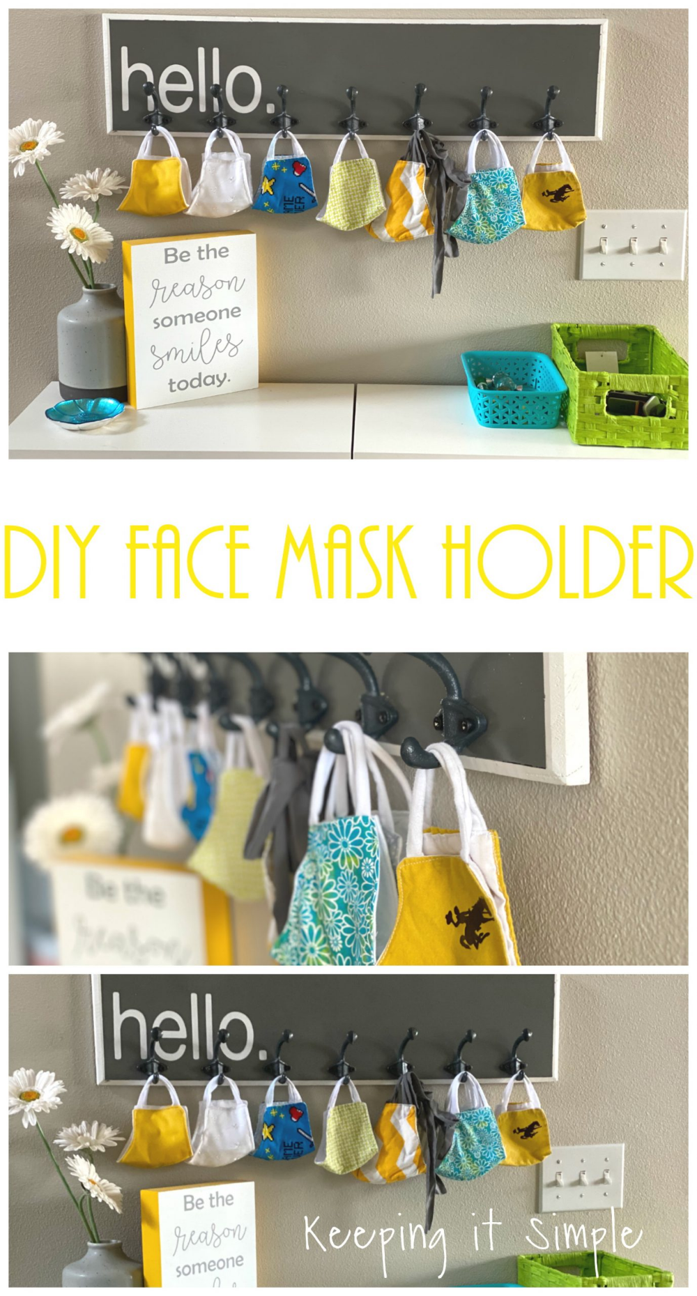 Diy Face Mask Holder And Organizer Keeping It Simple In 2020 Diy Face Mask Diy Holder Diy Face