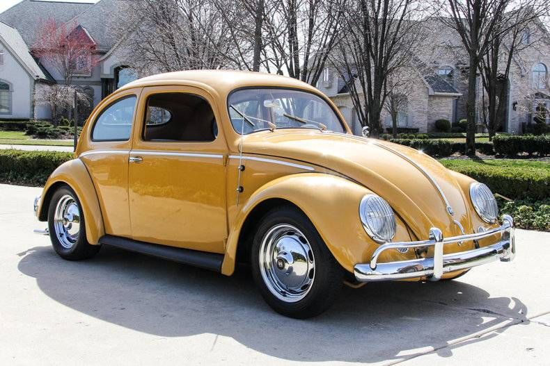 1956+Volkswagen+Beetle+Coupe Fusca amarelo, Vw fusca, Fusca