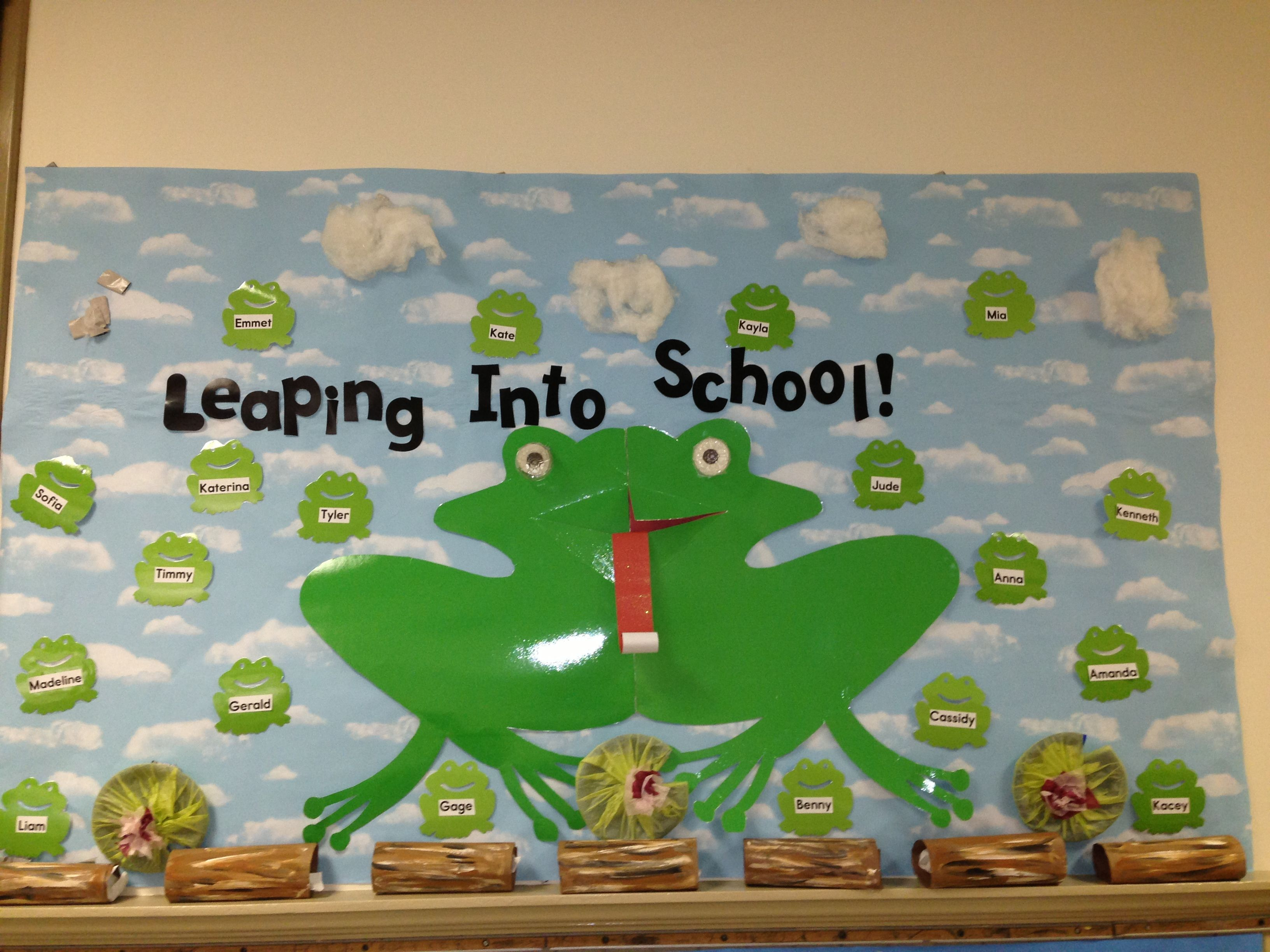 Welcome sign outside classroom