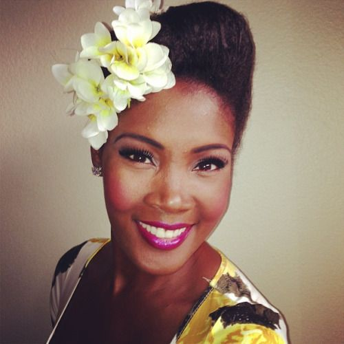 thepinupnoire updo hairstyle