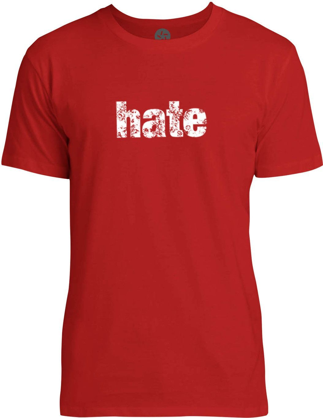 Hate (White) Mens Fine Jersey T-Shirt