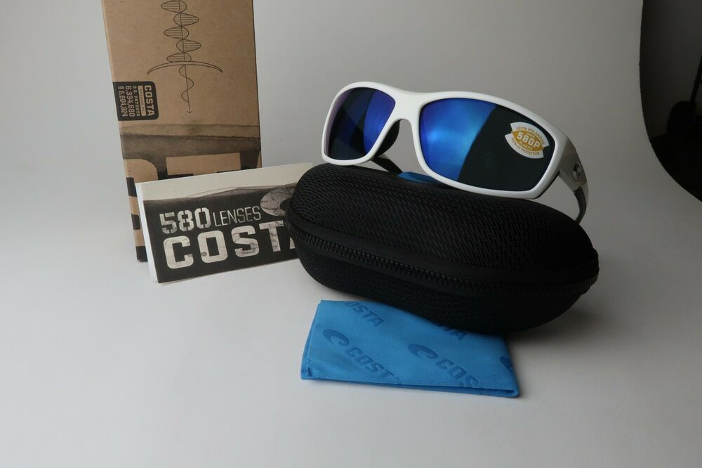 914fd7c7bc88 COSTA DEL MAR SALTBREAK POLARIZED Sunglasses White/Blue mirror NEW IN BOX  580p #fashion #clothing #shoes #accessories #mensaccessories ...