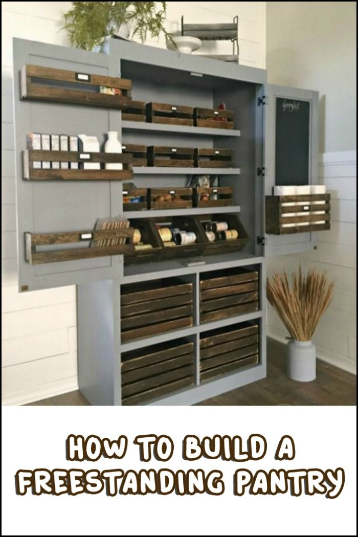 Medium image of build a freestanding pantry
