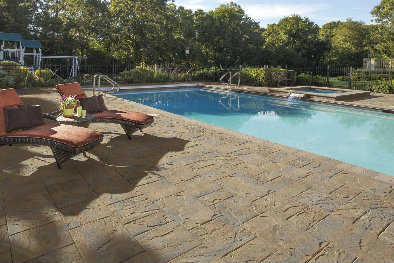This patio was created using The Sherwood Collection