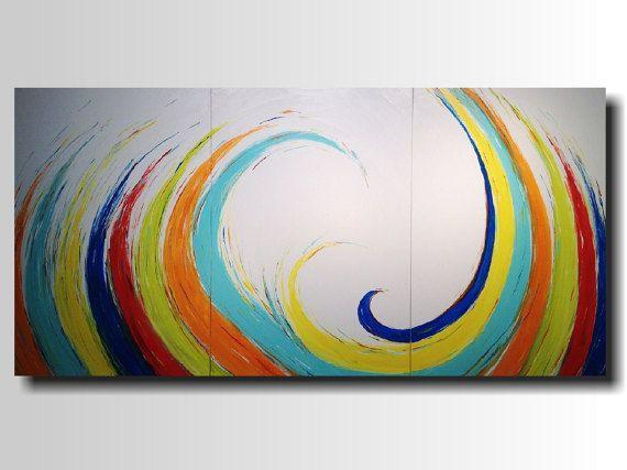 Large Acrylic Painting 36 X 72 Inches By Artist Jmjartstudio Whirlwind Large Wall Art Wall Decor Xxl Paintin 3 Piece Painting Large Wall Art Wall Art Decor