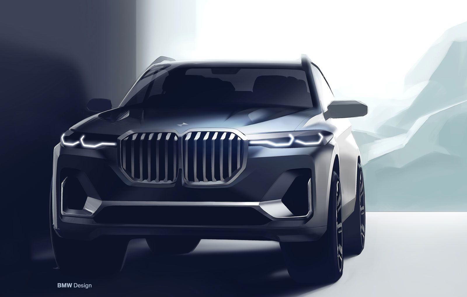 Bmw X7 Design Sketch Render Bmw X7 Bmw Sketch Car