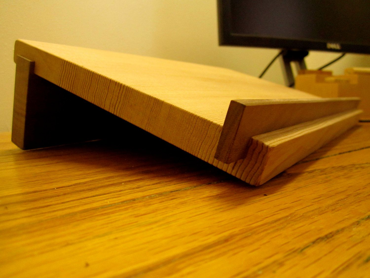 Wooden Laptop Stand By Matchlessmade On Etsy Wooden Laptop Stand