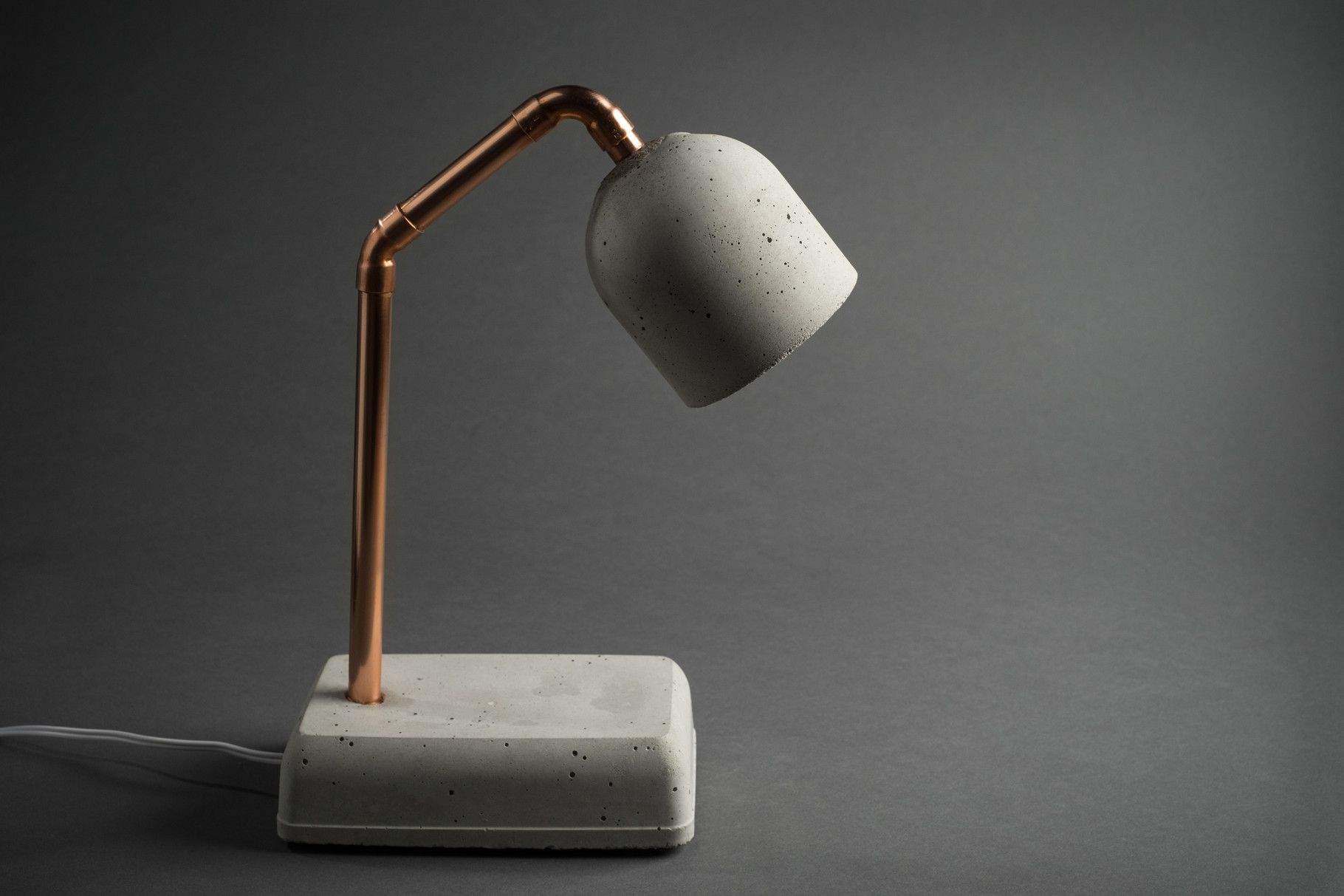 Concrete Bedside Lamp   This (bedside ) Table Lamp Is An Eye Catcher In  Your Apartment. The Lamp Base And The Lamp Shade Are Made Of Concrete And  Connected ...